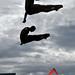 Los colombianos Juan Guillermo Uran y Victor Ortega en prueba de clavados trampolín 3 metros sincronizado