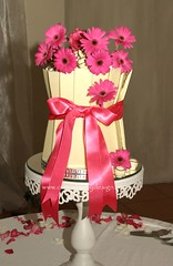 Two Tier Chocolate Panel Cake Leigh Ann (Dot Klerck....) Tags: cake chocolate weddings whitechocolate gerberas hotpink cerese gracestevens cupcakesbydesign dotklerck
