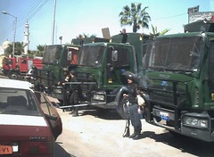 Egyptian Riot Forces (MS4d) Tags: truck soldier fire riot university force egypt police security egyptian  tender forces demonstrators troop     mansoura      carrierusing