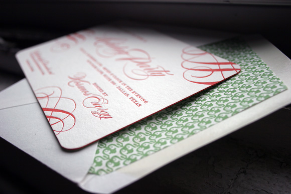 Custom Letterpress Holiday Cards