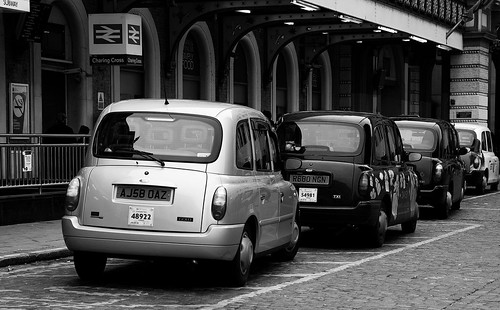 taxis at charing cross