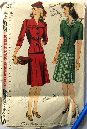 Vintage Simplicity 4527 2-Piece Dress