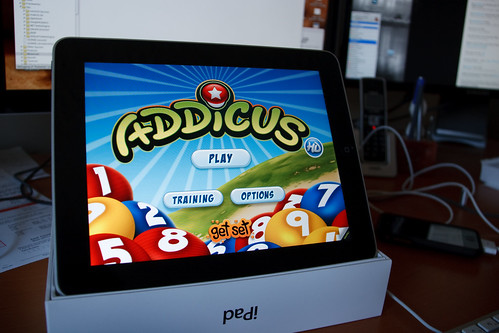 Addicus HD Running on the iPad - Title Screen