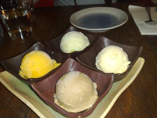 ice cream tasting platter