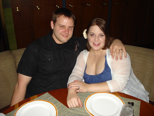 Mike and I at Dinner at Craftsteak