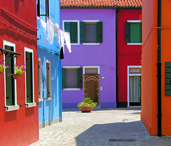 Colors of Burano (Dit49) Tags: venice italy nikon burano coolpix8800 topazsimplify