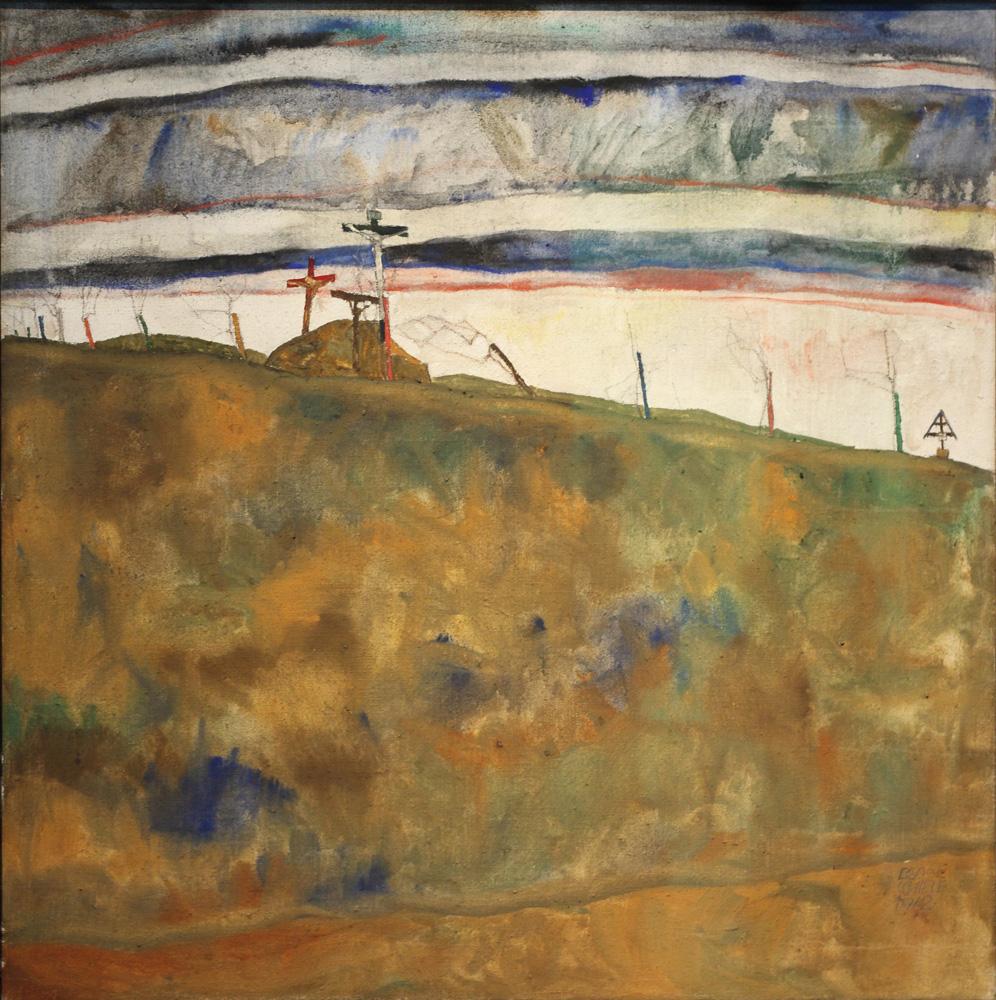 Egon Schiele, Kalvarienberg [Mount Calvary], 1912