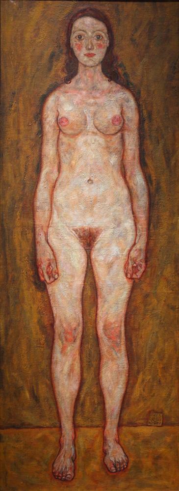 Egon Schiele, Mädchen [Girl], 1917