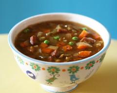 better than split pea soup (rachel is coconut&lime) Tags: apple soup herbs ham spices carrot peas pea fennel celery splitpea slowcookersplit