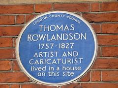 Photo of Thomas Rowlandson blue plaque