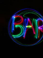 Neon Sign - Bar! (KerryElise07) Tags: bar paintingwithlight neonsign