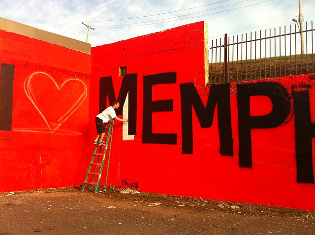 I Love Memphis Mural No.1 - Cooper-Young