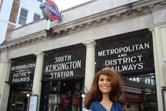 Princess Catherine Engagement Doll at South Kensington Tube Station (Princess Catherine Doll) Tags: london toy doll princess kate royal tourist catherine british middleton arklu