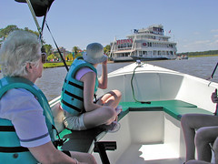 Grandma & Jennifer in Rental Boat