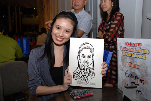 Caricature live sketching for Tetra 60th Anniversary - 13