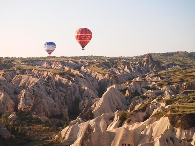 熱氣球上的景觀