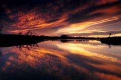 February Sky (NaturalLight) Tags: park sunset reflection creek kansas prairie wichita cirrus chisholm chisholmcreekpark