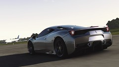 Metallic (polyneutron) Tags: car photography ferrari 458 silver supercar forza motorsport fm6 forza6 apex pc topgear track photomode depthoffield motion