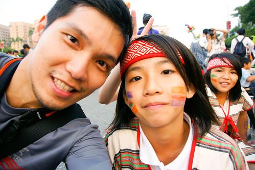 自拍‧原住民小朋友