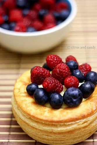 Mixed Berry Vol-au-vents @ Citrus and Candy by Karen Low
