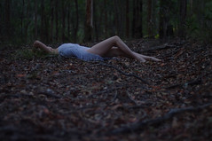 i fell (Rebecca Nathan) Tags: forest dark photography log woods fallen rebeccanathan