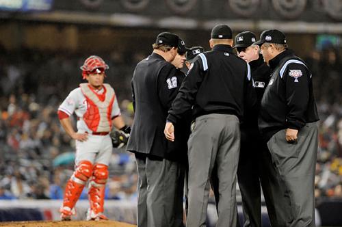 Ruiz waits, umps deliberate