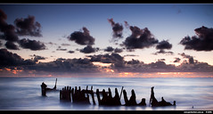 There be land ahoy (J.P.Robertson) Tags: beach wet water sunrise ship australia shipwreck queensland wreck dicky calundra alemdagqualityonlyclub cloudslightningstorms