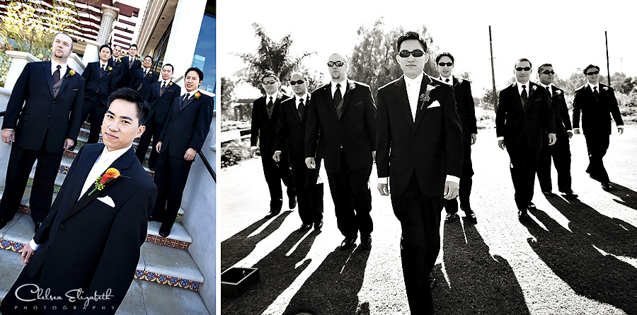 Old Ranch Country Club Seal Beach groomsmen portraits picture