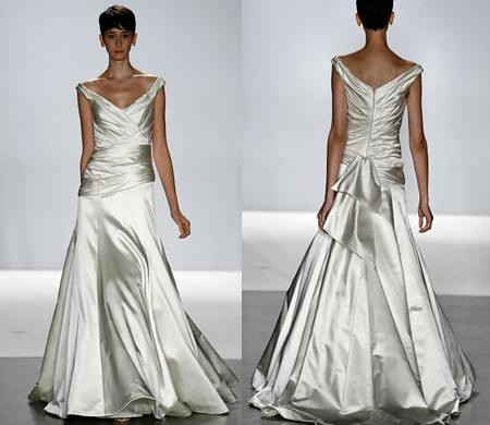 Silk wedding dress option.