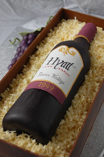 Wine bottle Birthday Cake - the bottle