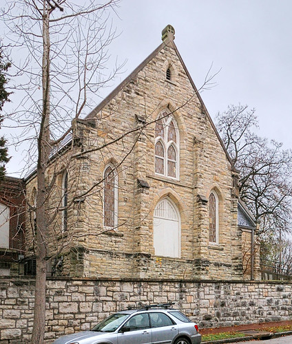Former Saint Joseph Lithuanian Catholic Church, in the Lafayette Square neighborhood of Saint Louis, Missouri, USA - 2