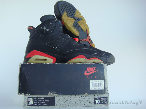 7f0d38e8642797 ... sweden sunshining7 nike air jordan vi 6 1991 og black infrared a3827  a453a