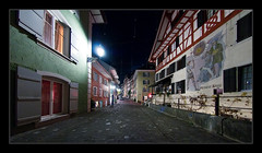 Baden, Old Town ('PixelPlacebo') Tags: night nacht baden aargau argovia