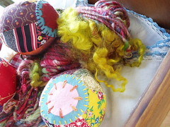 Roly Poly handspun art yarn