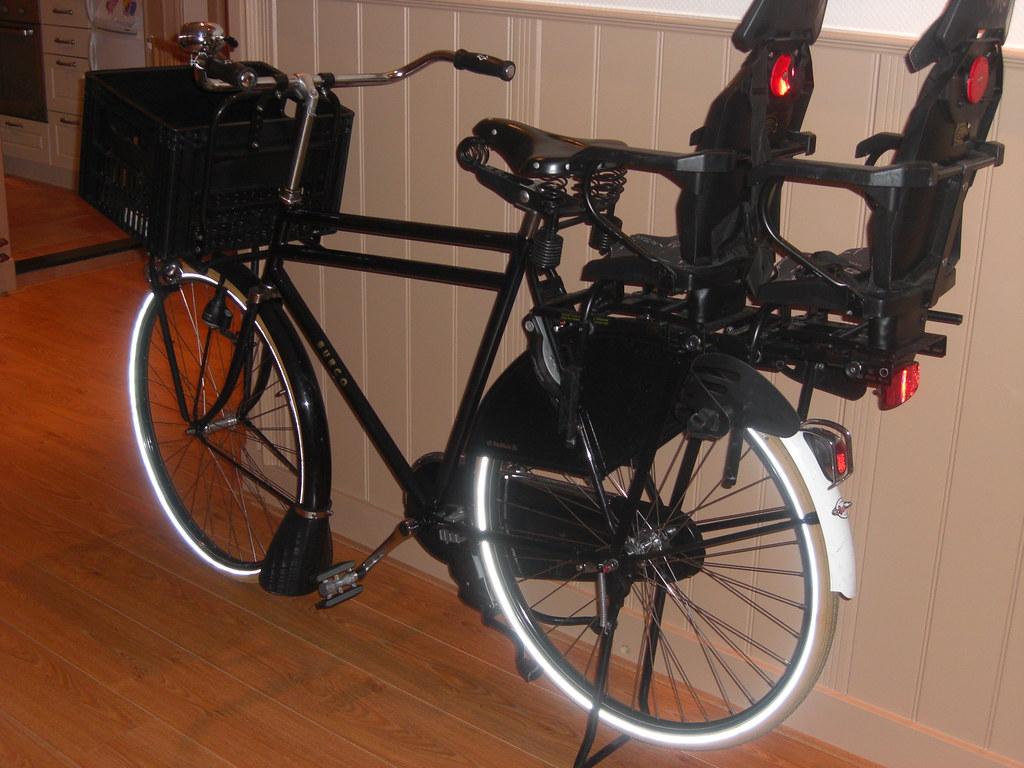 dubbel kinderzitje achterop fiets