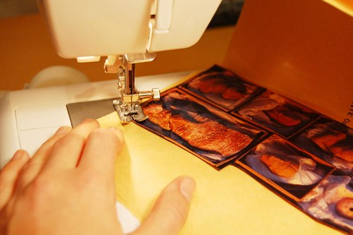 Sewing images in (Copyright Hanna Andersson)