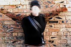 Ghost. (JemmaJusticePhotography.) Tags: camera brick wall contrast digital speed lens justice reflex high scary aperture nikon focus pattern slow ghost spooky single shutter manual transparent dslr paranormal jemma d40x flickrestrellas jemmysaur jemmaammej stephendun