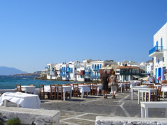 Little Venice in Mykonos Old Town