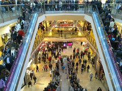 Christmas shoppers in the Bullring