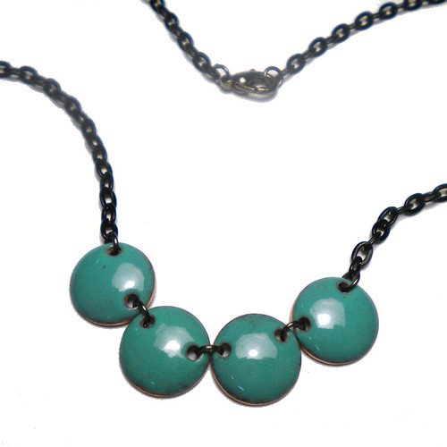 Teal Dot Necklace