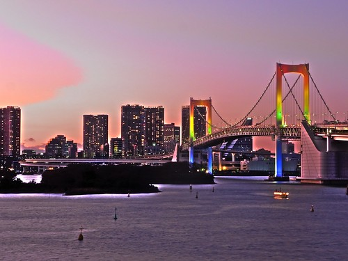Rainbow Bridge Sunset in Odaiba