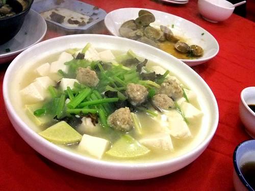 Tofu with Minced Pork Balls
