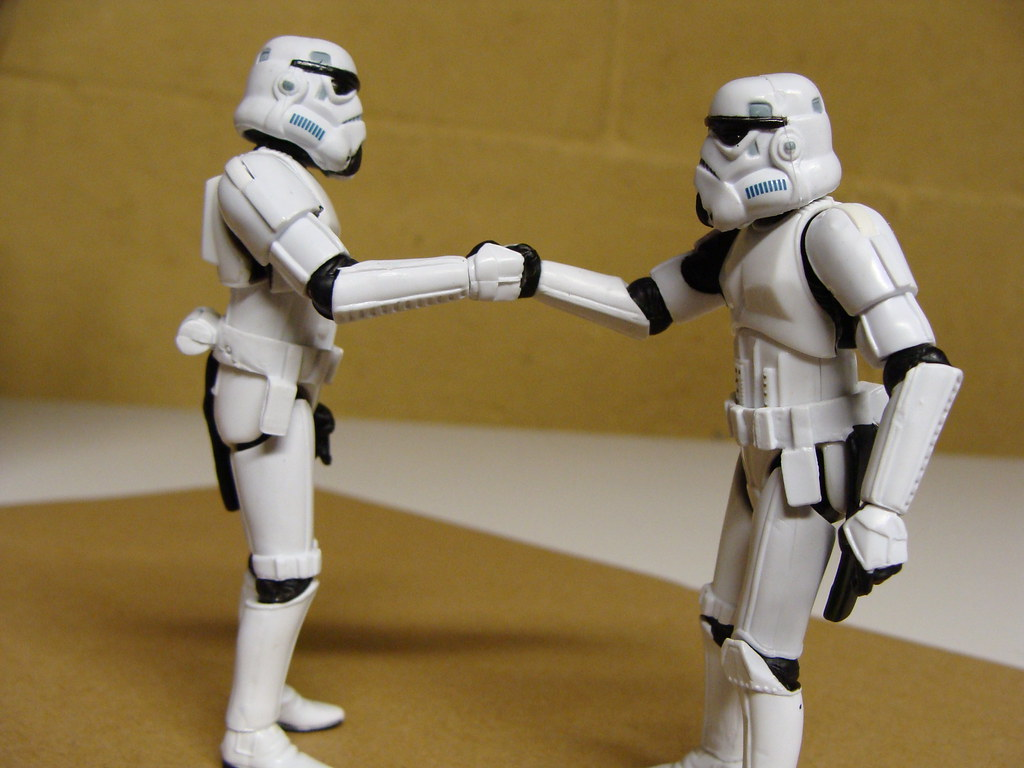 Image result for stormtroopers shaking hands