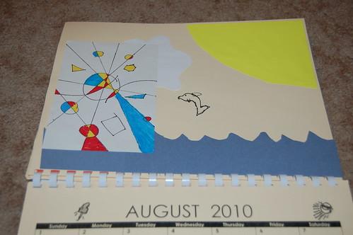 Adam's calendar gift - August