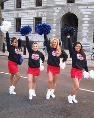 Cheer Fit in London Parade: New Year's Day 2010! (Cheer Fit) Tags: cheerleaders cheerleading legwarmers pompoms tubesocks londonparade newyearsdayparade cheerfit britishallstars newyearsday2010 londonparade2010 britishcheerleaders