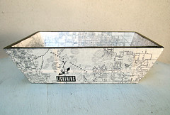 Phoenix Map Tray (CarolinaCottage) Tags: handmade tray decoupage carolinacottage