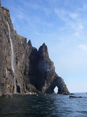 Isle of skye, great cliffs, waterfalls and dramatic Cuillin Mountains
