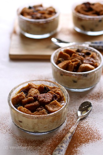 Banana, Rum & Raisin Bread Pudding