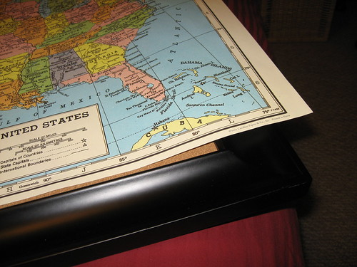A travel world map with pins decor adventures so i headed out to make a cord board myself michaels had just what i needed frames at 40 off and rolled cork to put on myself gumiabroncs Images