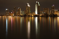 Reflections of Downtown San Diego (San Diego Shooter) Tags: longexposure wallpaper cityscape sandiego desktopwallpaper downtownsandiego sandiegoskylineatnight sandiegocityscape downtownsandiegoskyline thepinnaclehof tphofweek30 f64g16r1win sandiegodesktopwallpaper